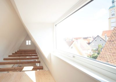 Schreinerei Hundhammer Objektdesign Haus Mindelheim Dachgeschoss mit Gaube