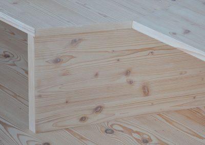 Schreinerei Hundhammer Objektdesign Haus Mindelheim Einbauten, Holzboden aus Fichtenholz